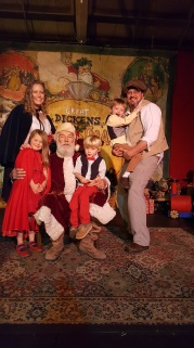 Meeting Father Christmas at the Dickens Fiar